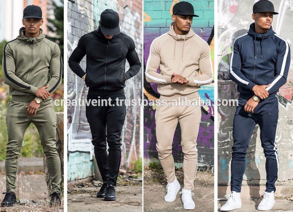 2019 Latest Design Tracksuit Jumpsuit Top Pants Sets Sports Suit Long Sleeve Cotton Coat Fashion Hip Hop Hoodies 2019 New Year Christmas Rich And Magnificent Men's Clothing