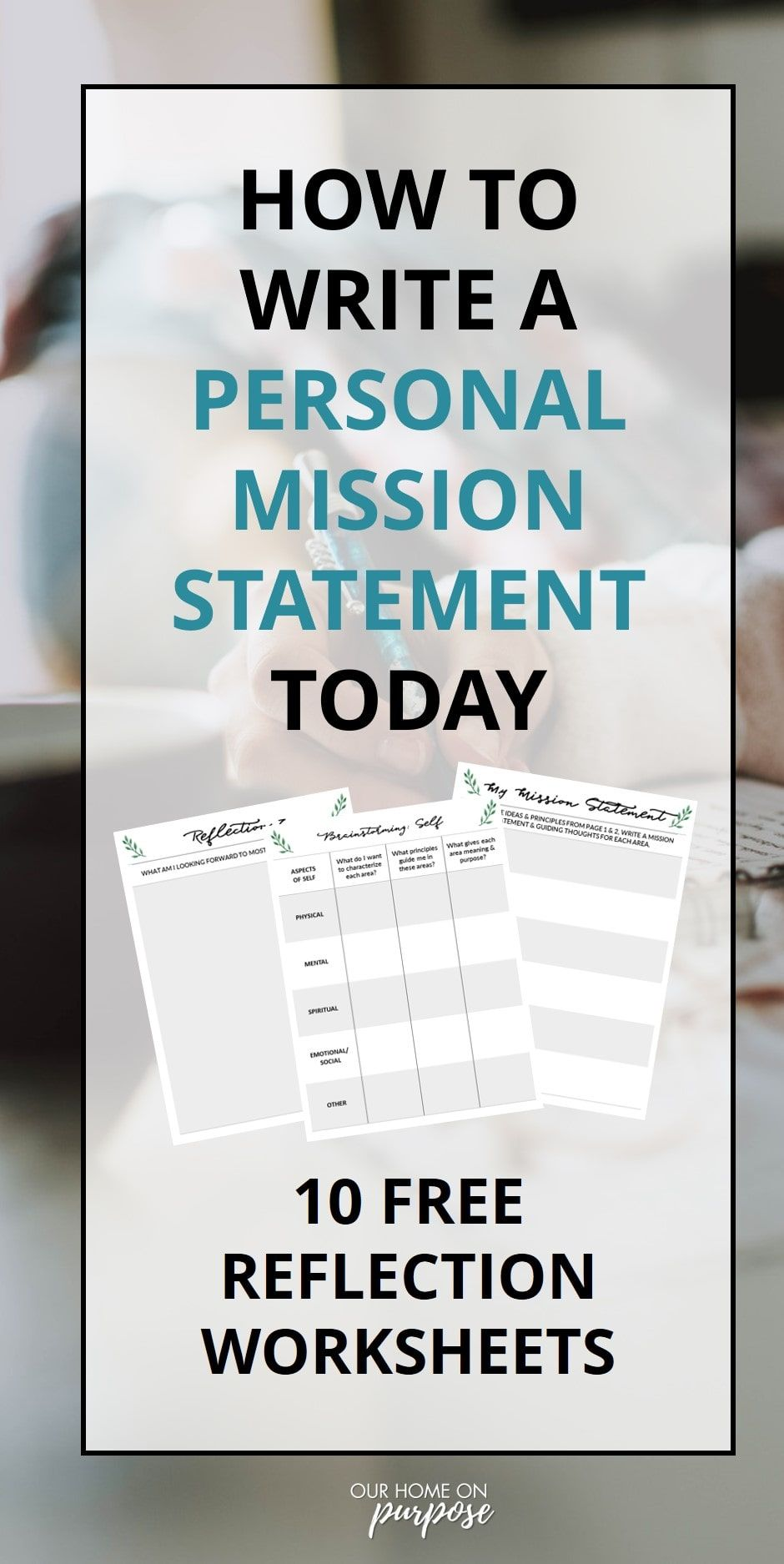 How To Write A Mission Statement Why It S Game Changer Our Home On Purpose Example Personal Examples Yoga