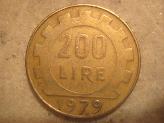 Italy 1979 Coin 200 Lire Coins Lettering Personalized Items