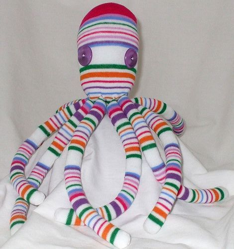 octopus sock toy = socktopus for Tinley More | Sewing Patterns ...