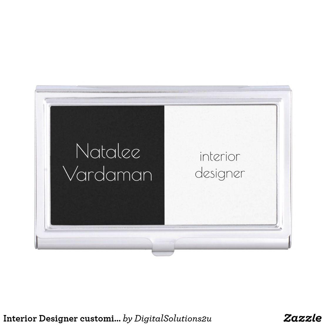 Interior designer customizable simple elegant business card holder interior designer customizable simple elegant business card holder colourmoves