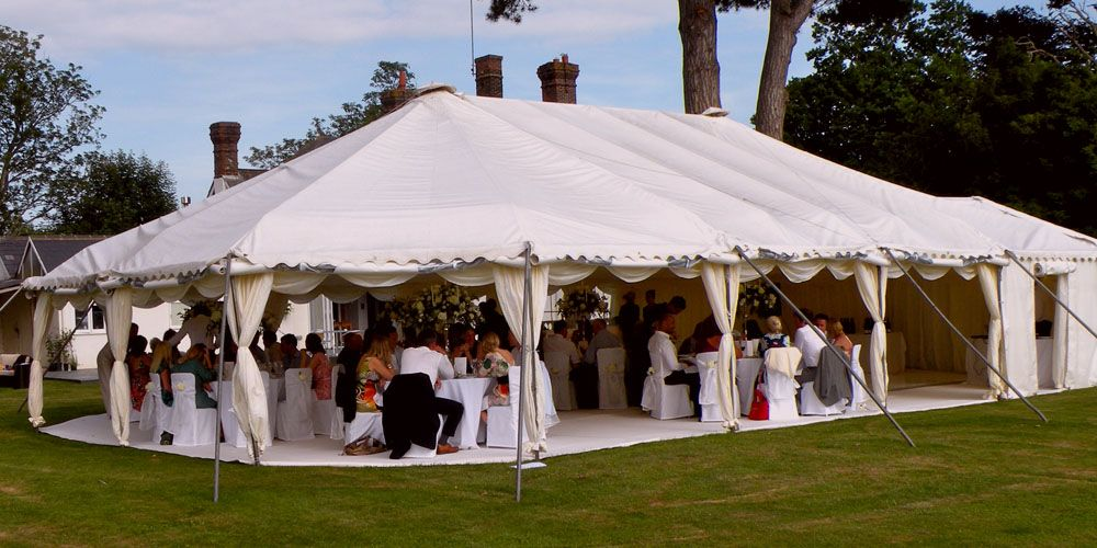 The Essential Guide For Successful Marquee Hire North Wales u2013 SEO Consultants & Kent Marquees - Rounded ends open sides carpet. | English ...