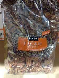 NEW 2 LBS (32oz.) Kirkland RAW SHELLED PECAN HALVES Nuts Baking Find Me At www.secondhanddelights.com