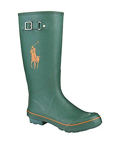 polo ralph lauren men´s matteo rain boots  dillards