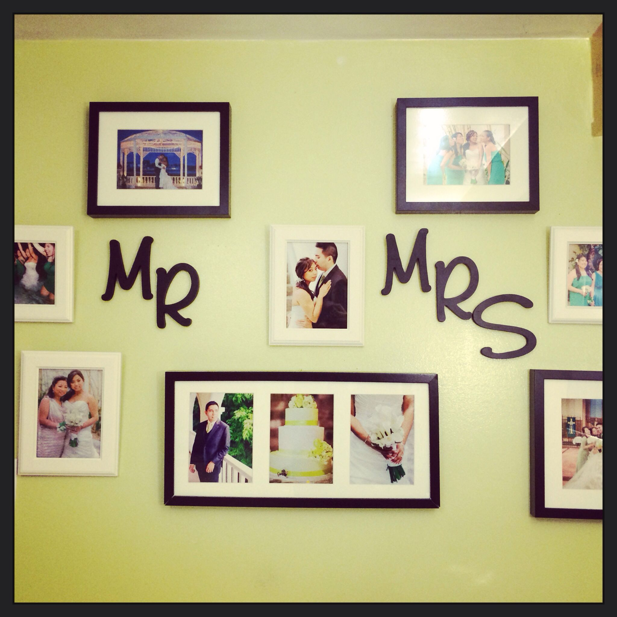 Mr and Mrs wall! Would look great in a master bedroom, especially on the wall behind the headboard!