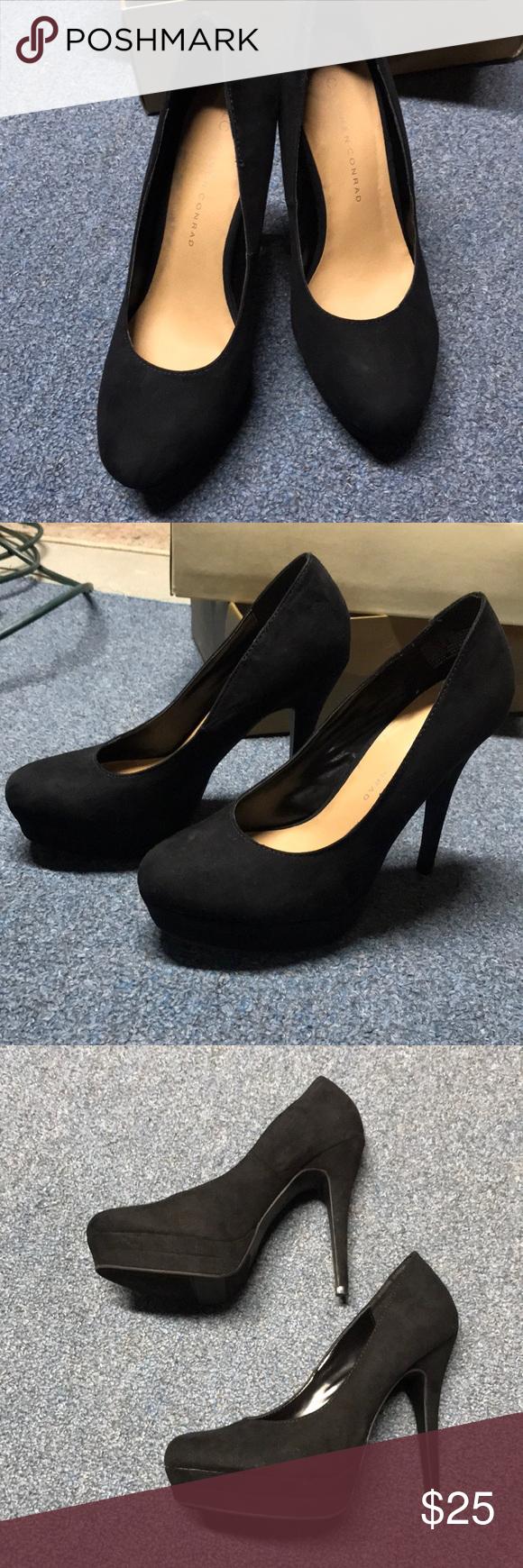 LC Lauren Conrad Johanna Shoes Womens 7 Black Shiny