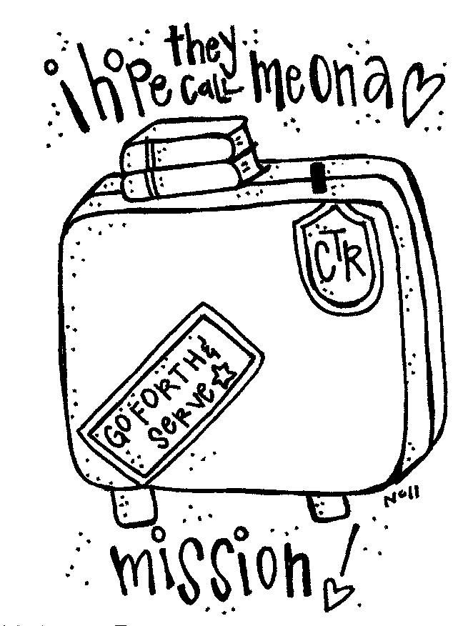 For kids to color and send to missionary aunt | Missionary Stuff ...
