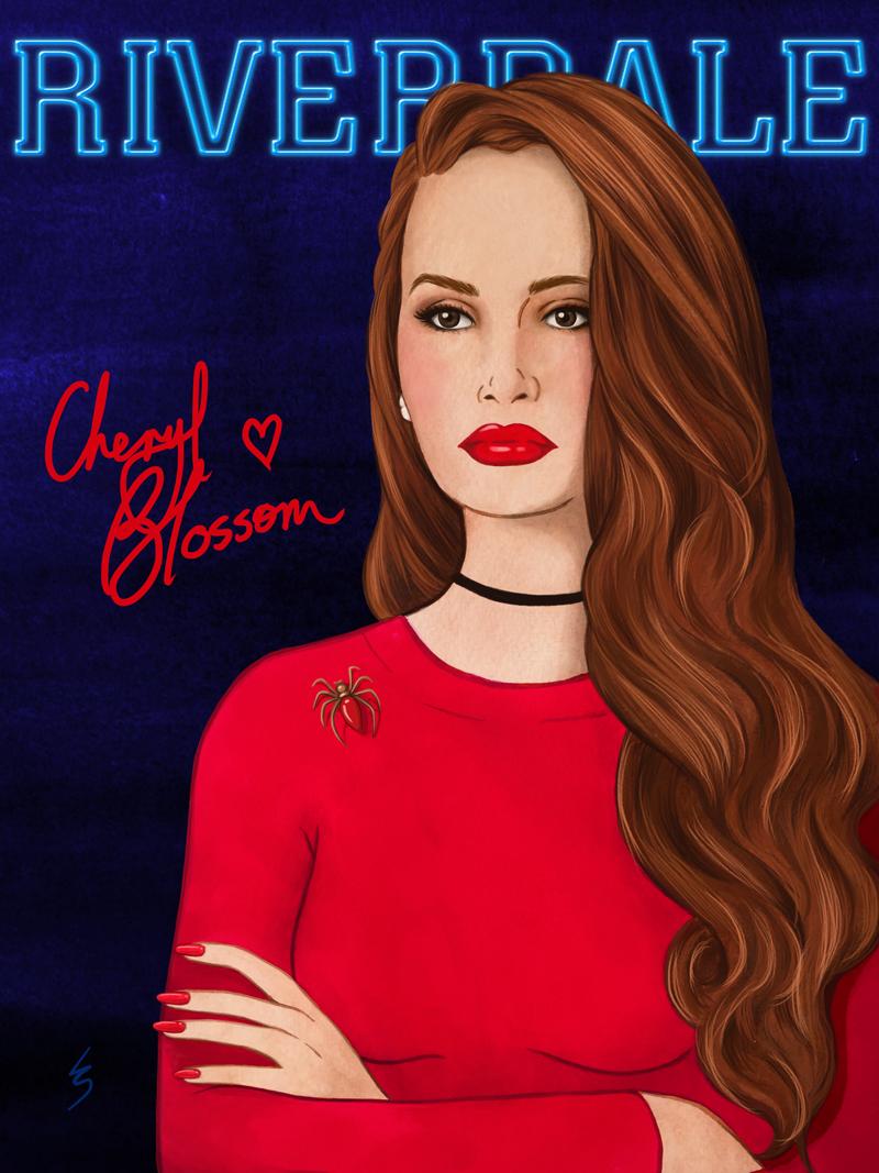Fashion Illustration By Lydia Snowden Cheryl Blossom