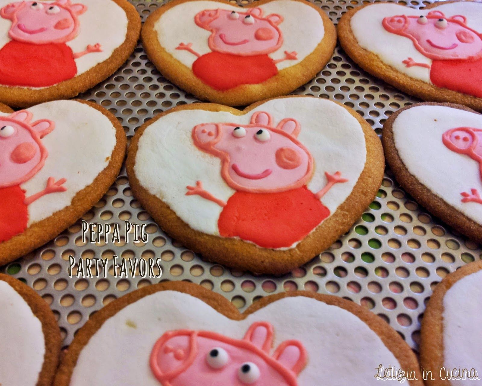 Letizia in Cucina: Biscotti Peppa Pig - Birthday Party Favors ...