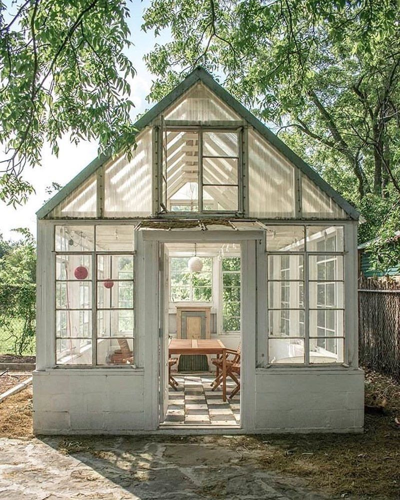 Russell Transformed The Greenhouse Behind His Victorian Into A