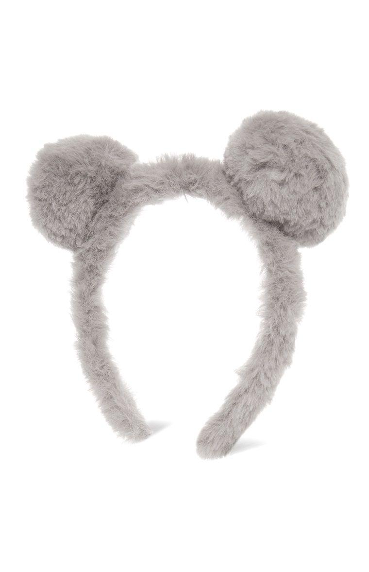 Grey Bear Pom Pom Hairband