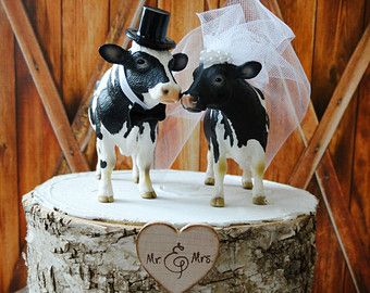 Cow Cowboy Farmer Wedding Cake By Morganthecreator On Etsy