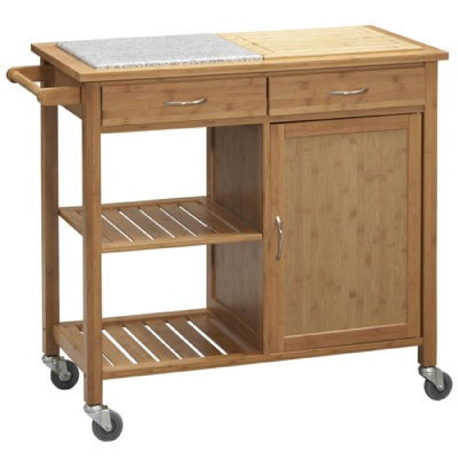 Bed Bath Amp Beyond Linon Home Bamboo Rolling Kitchen Island