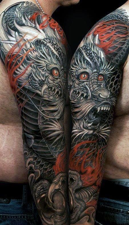 Photo of 50 Deadly Dragon Tattoos For Men – Manly Mythical Monsters