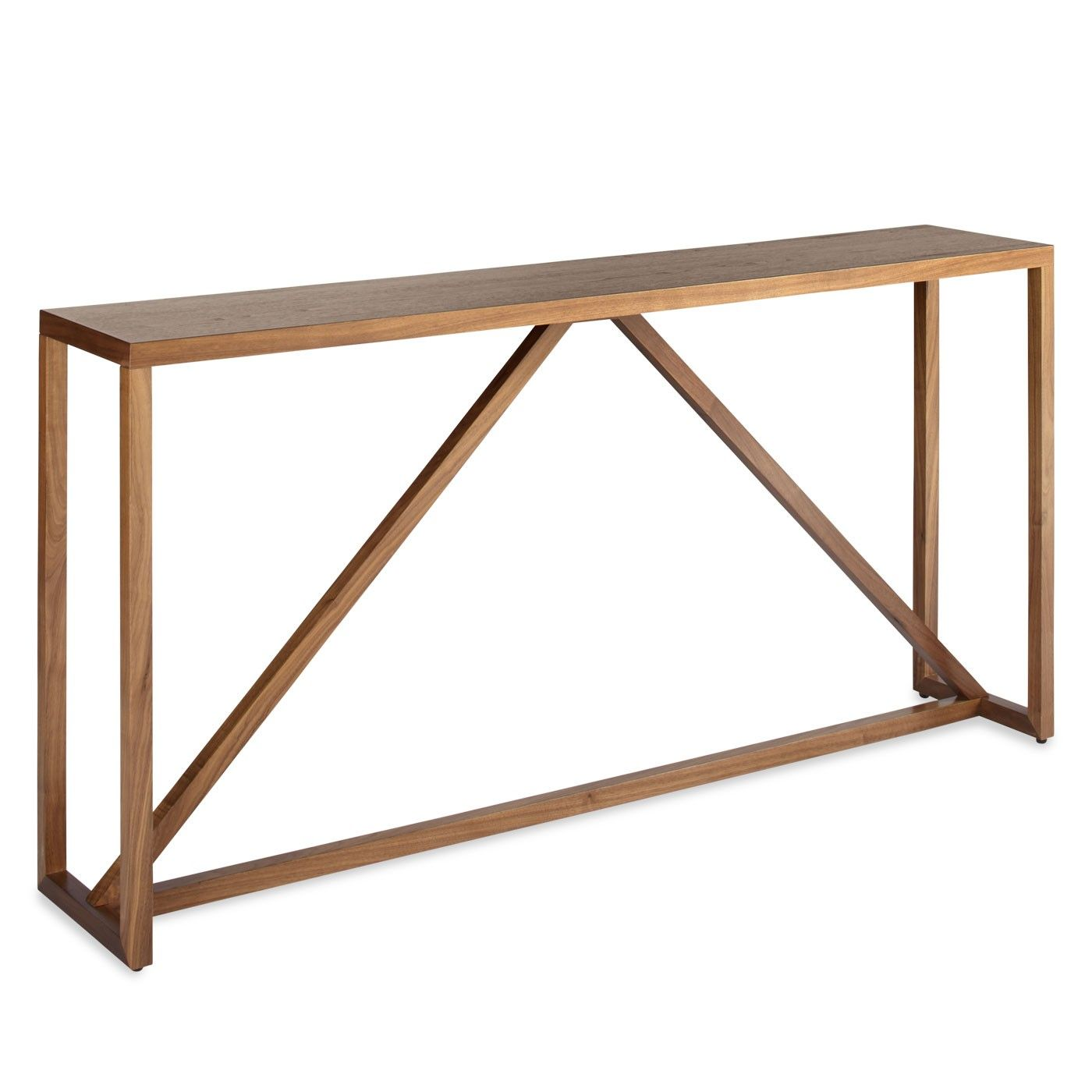 Strange Strut Wood Console Table Nh Project Modern Console Gmtry Best Dining Table And Chair Ideas Images Gmtryco