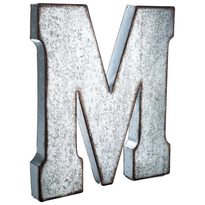 Hobby Crafts  Decor  M Large Galvanized Metal Letter  Home