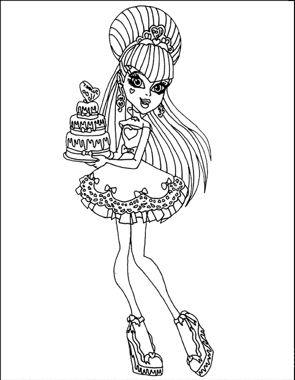 baby draculaura coloring pages - photo#32