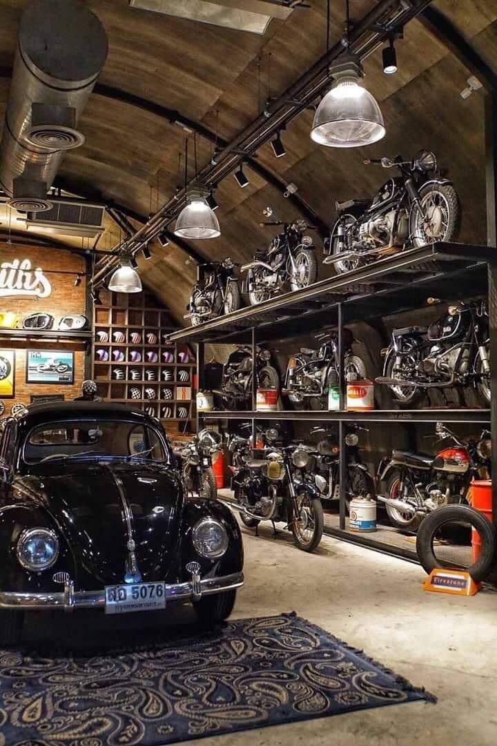 Motorcycle Garage Man Cave Garage Da Sogno Progetto Per Un Garage Rifugio Dell Uomo