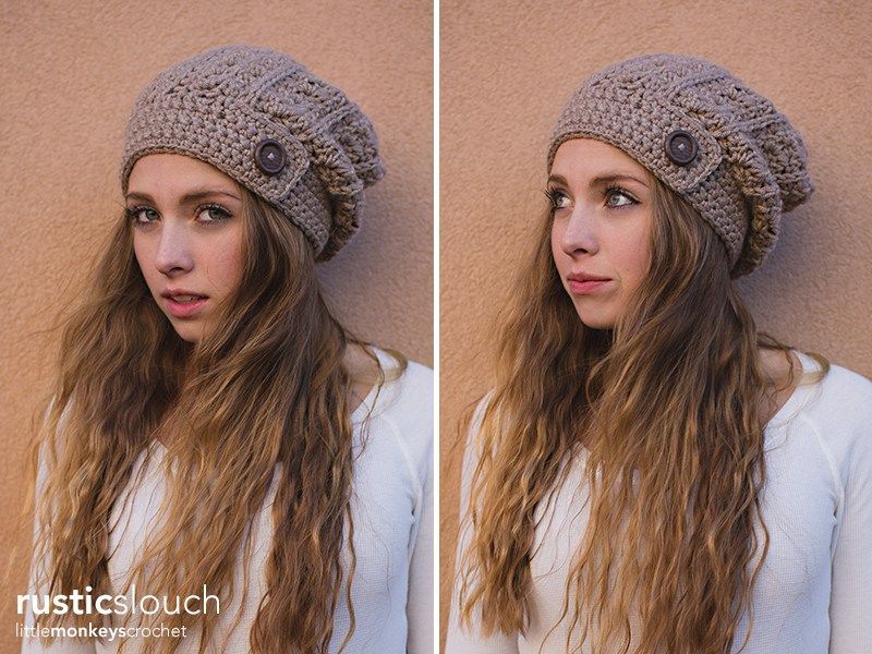 Rustic Slouch Crochet Hat Pattern Free Slouchy Hat Crochet Pattern
