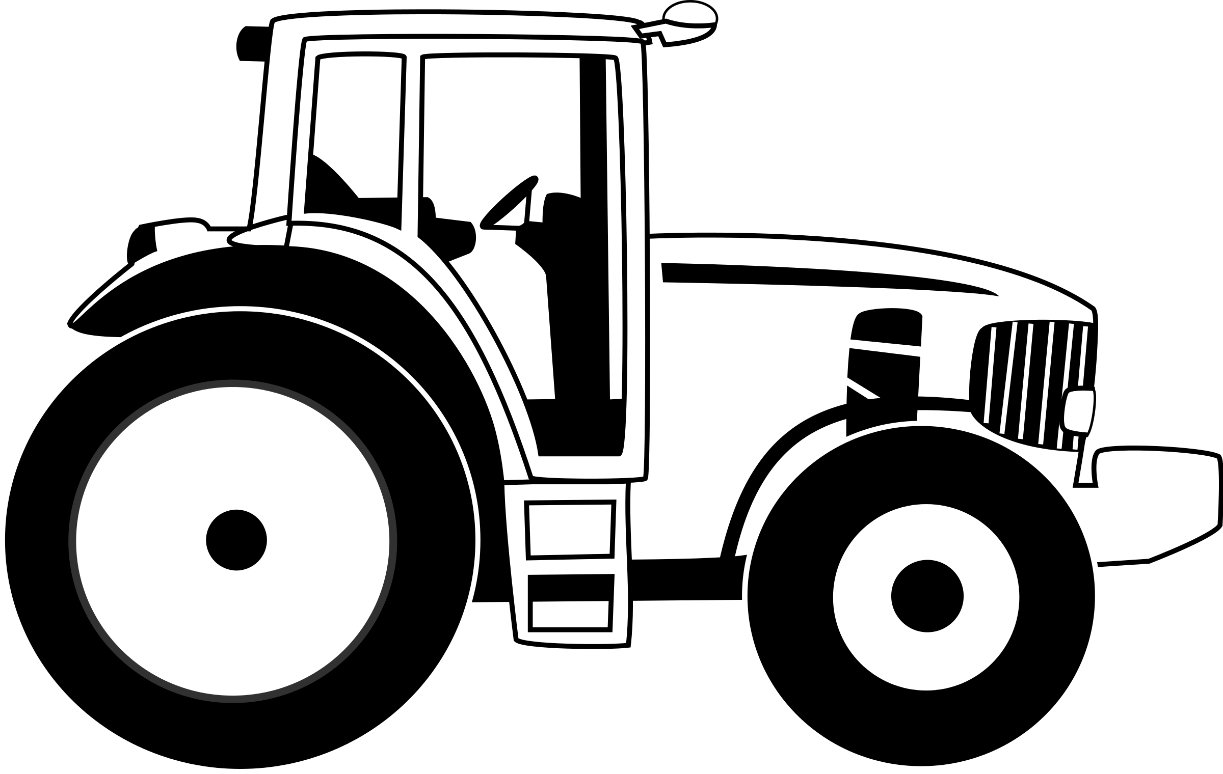 Free Black And White Tractor Clipart