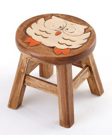 Owl stool, 10 inches high