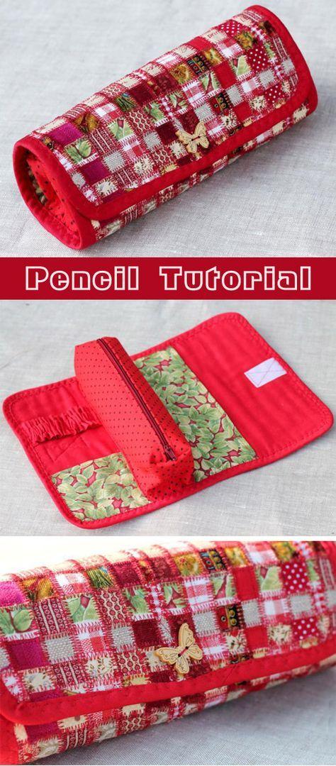 pencil patchwork tutorial wallets bags cases. Black Bedroom Furniture Sets. Home Design Ideas