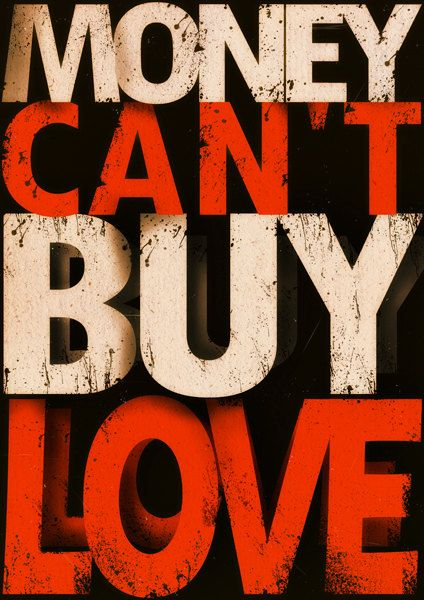 Typography Poster Money Can T Buy Love Print Canvas Quote Phrase