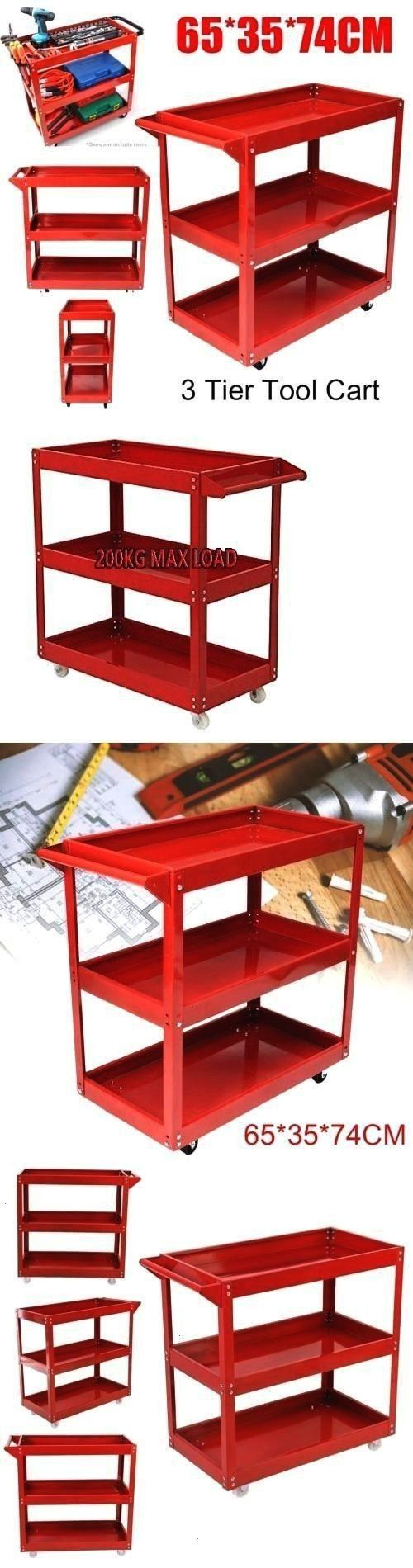 Tool Boxes 33089 3 Tier Heavy Duty Workshop Garage Mechanic Utility Trolley Service Tool Cart To  BUY IT NOW ONLY 4395 on Tool Boxes 33089 3 Tier Heavy Duty Workshop Gara...