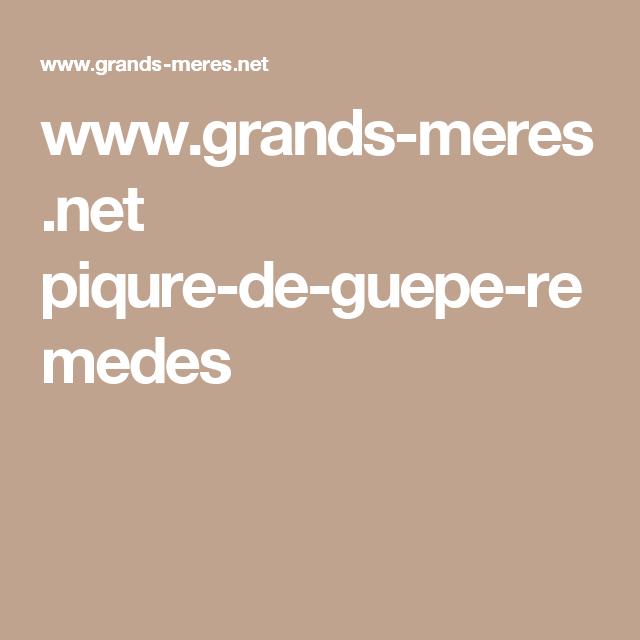 www.grands-meres.net piqure-de-guepe-remedes