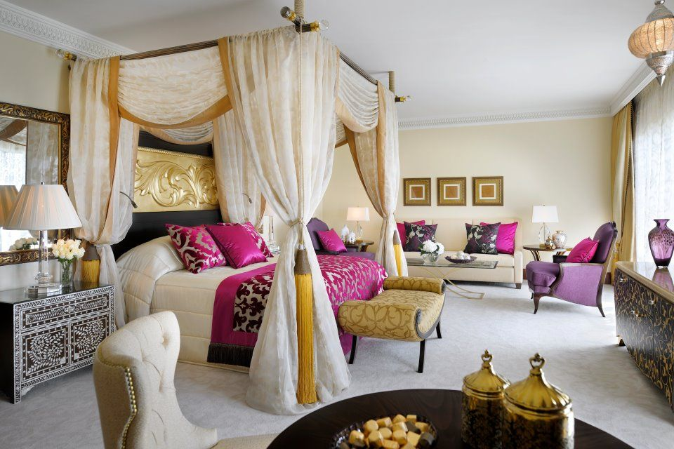 Bedroom Ideas Gold And Cream cream/indigo/purple/gold inspired dubai bedroom - lovely seating