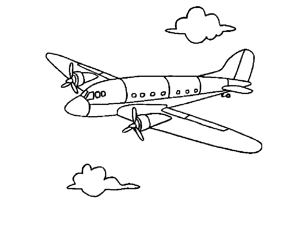 Coloring pages airplanes jet - Printable Airplane Coloring Page Pictures