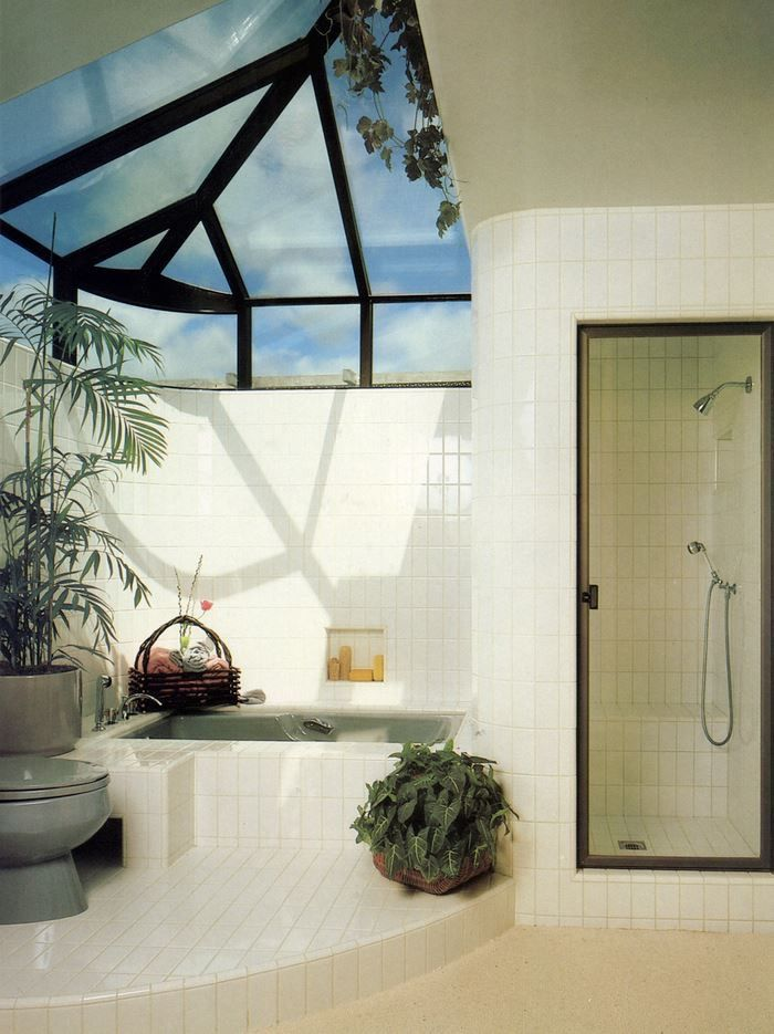 80s Interior Postmodern Plants Tiles Bathroom Interior In 2019 Home Decor