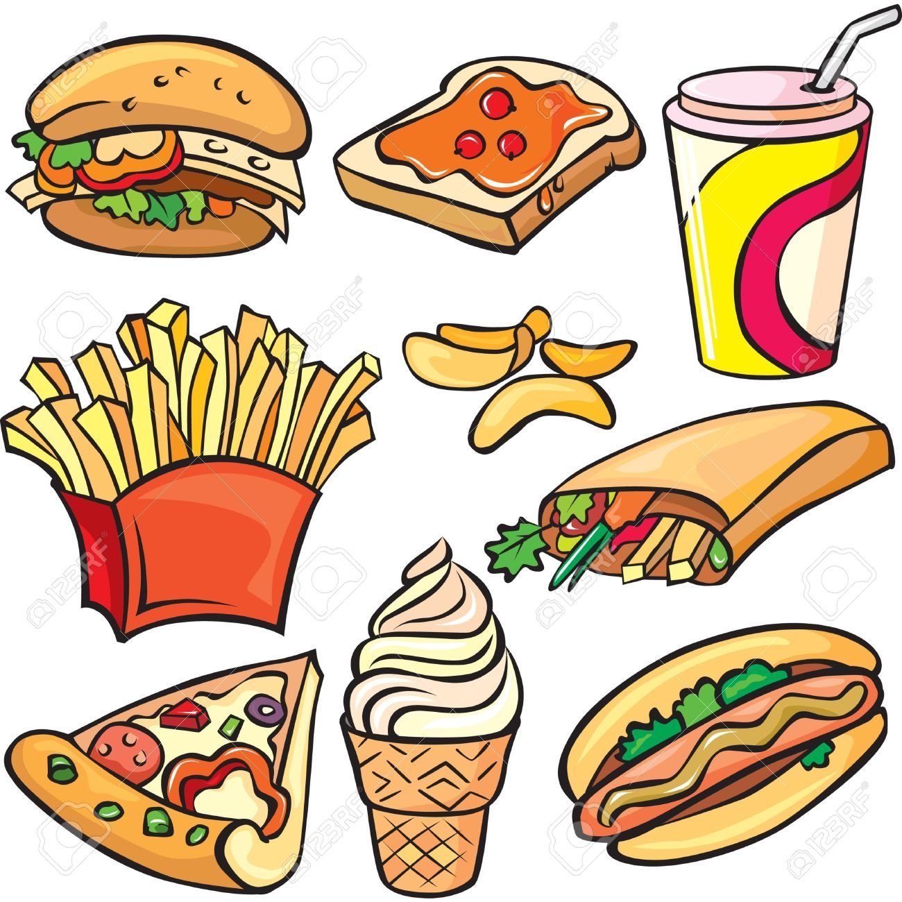 Chinese Food D Clip Art