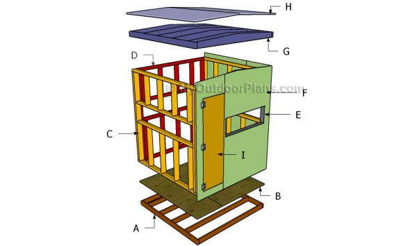 Deer blind plans free outdoor plans diy shed wooden for Diy deer stand plans