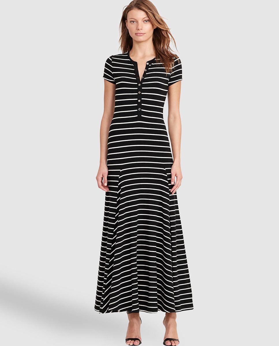 b371efc4b Vestido largo de mujer Lauren Ralph Lauren con estampado de rayas ...