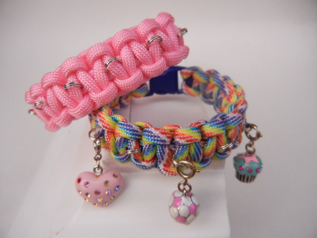 Paracord 550 Pink Handmade Friendship Bracelet Help Support Breast Cancer Care
