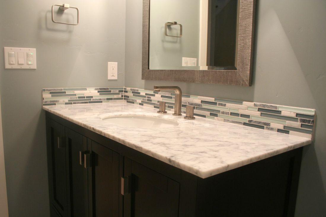 Pictures Of Tile Installations Tile Plus Vanity Backsplash
