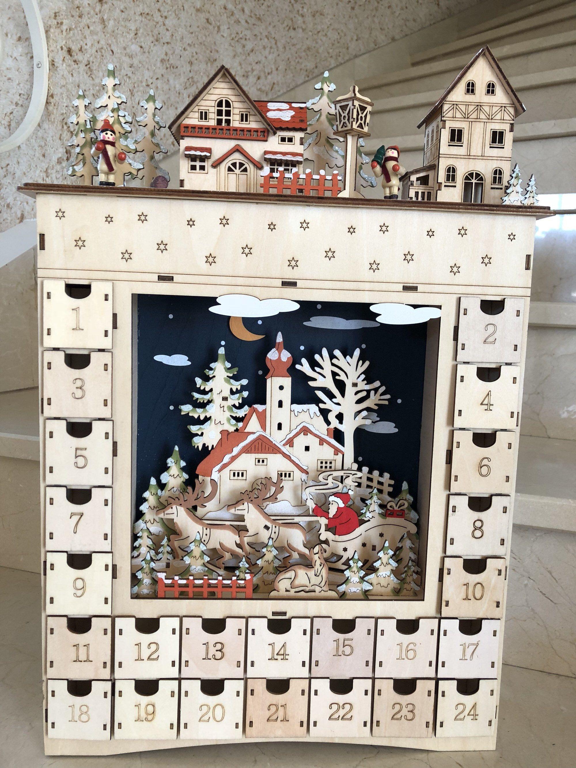 Calendrier de l'Avent Rêve hivernal, calendrier de l'Avent, calendrier, Noël, cadeau, Père Noël, fait main, décoration, enfant