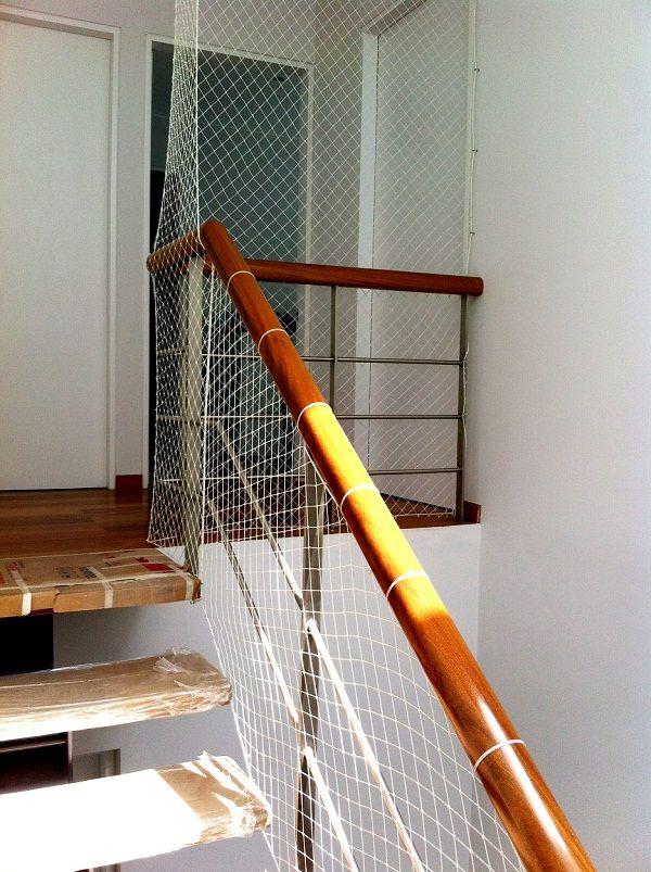 Pin En Mallas De Seguridad De Nylon En Escaleras