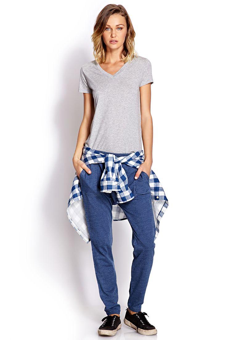 $24.80 Chambray Harem Pants | FOREVER21 - 2000063804