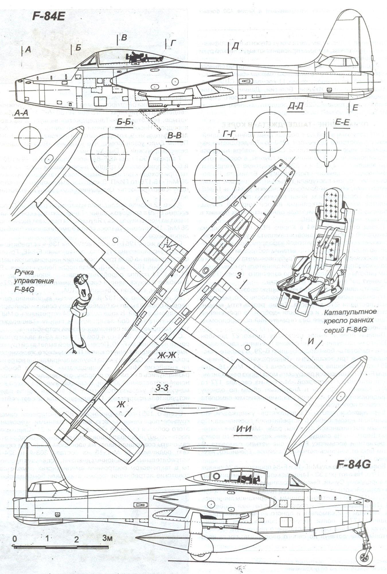 Republic F 84 Thunderjet Blueprint