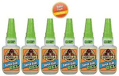 Glues and Pastes 161586: 15G Gorilla Super Glue Gel, 6 Pack -> BUY