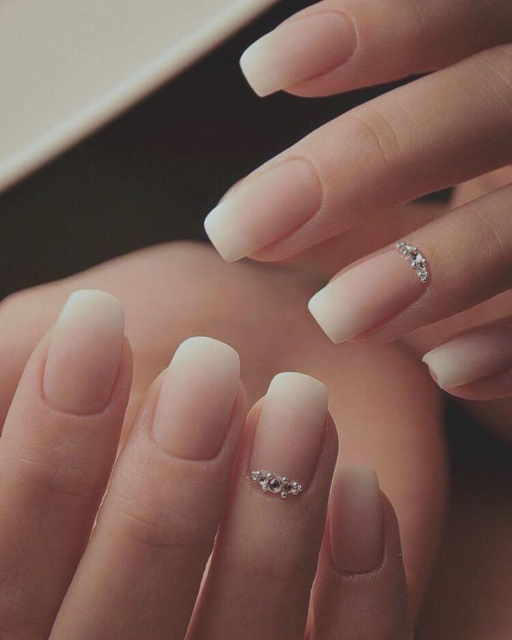 Nails Pink Nails Natural Nails Solid Color Nails Acrylic Nails Cute Nails Wedding Nails Sparkling Glitter Bridal Bride Nails Bridal Nail Art Pink Nails