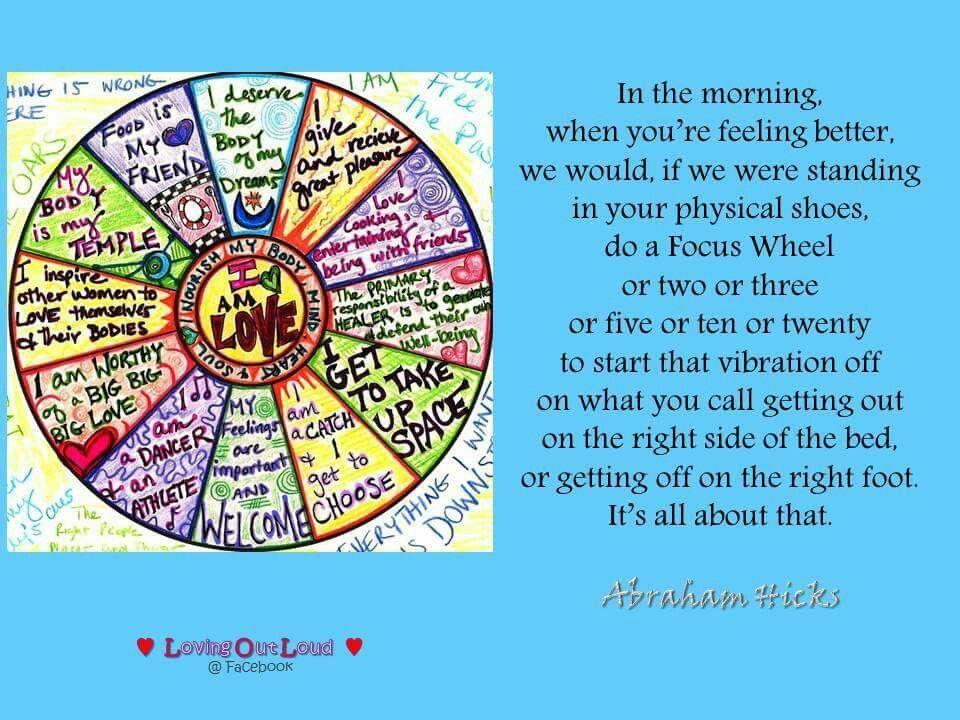 Focus wheel - Abraham Hicks