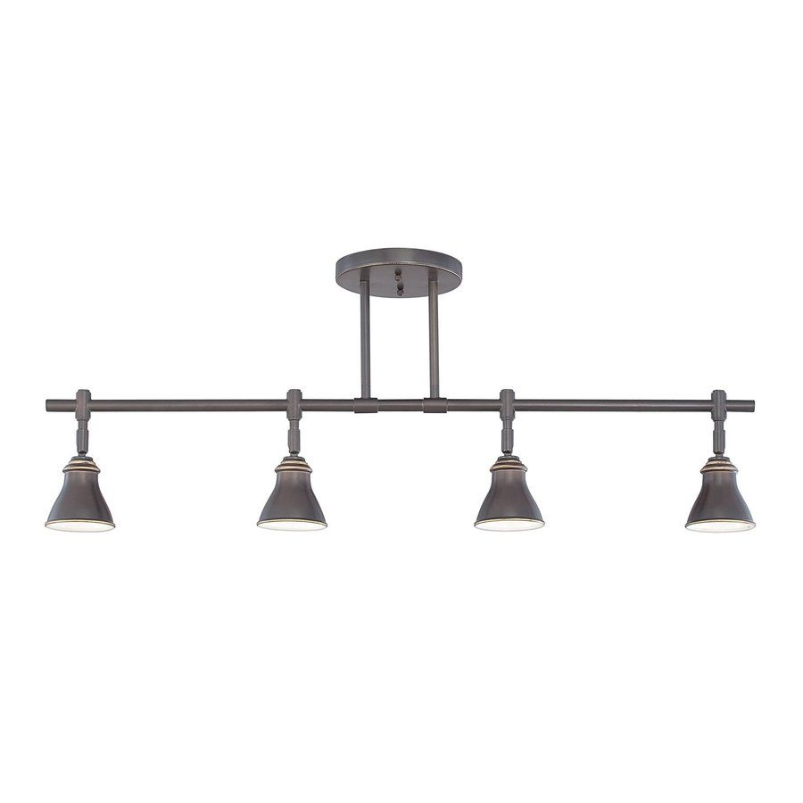 Quoizel 4 Light 36 In Palladian Bronze Dimmable Fixed Track Light Kit Farmhouse Track Lighting Track Lighting Fixtures Track Lighting Kits