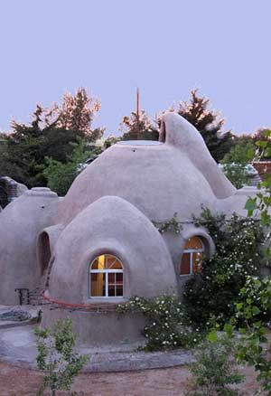 Adobe, or Cob, 400sq.ft homes of connecting domes