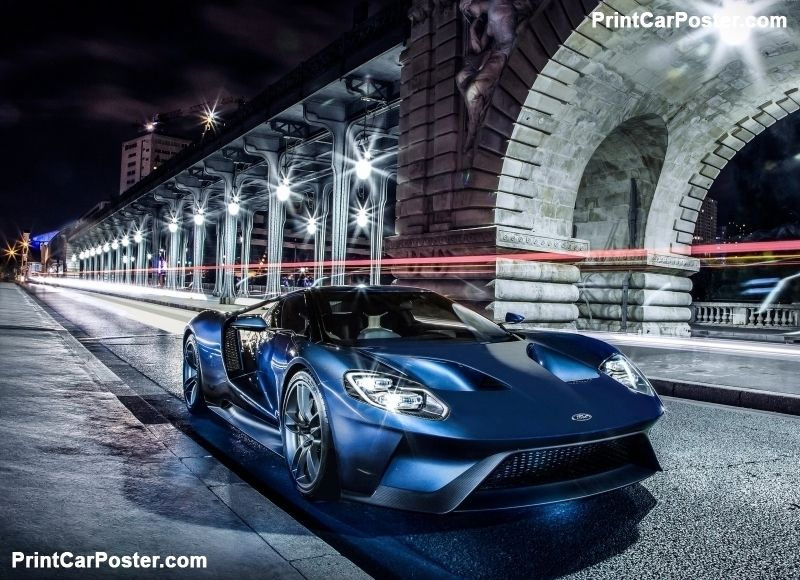 Ford Gt  Poster Poster Mousepad Tshirt Printcarposter