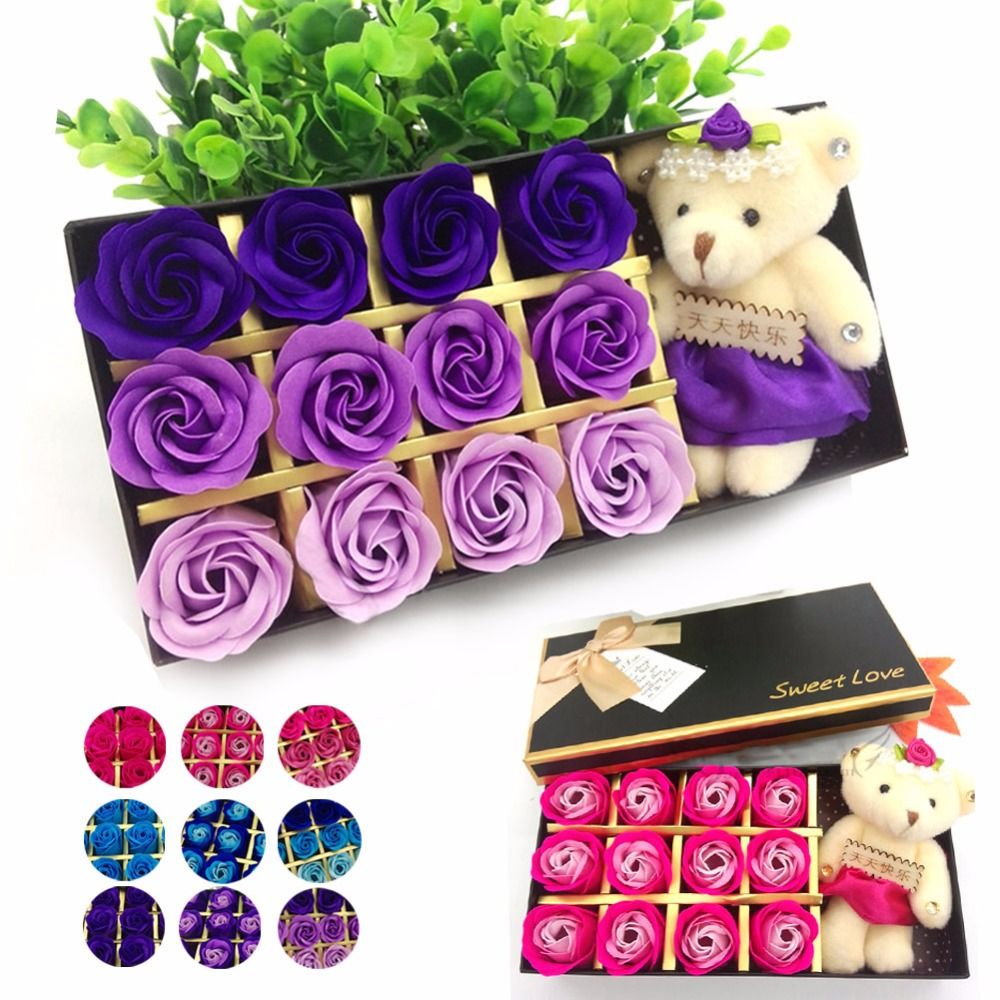 Creative Colorful Flower Beautiful Rose Birthday Gift For Girls