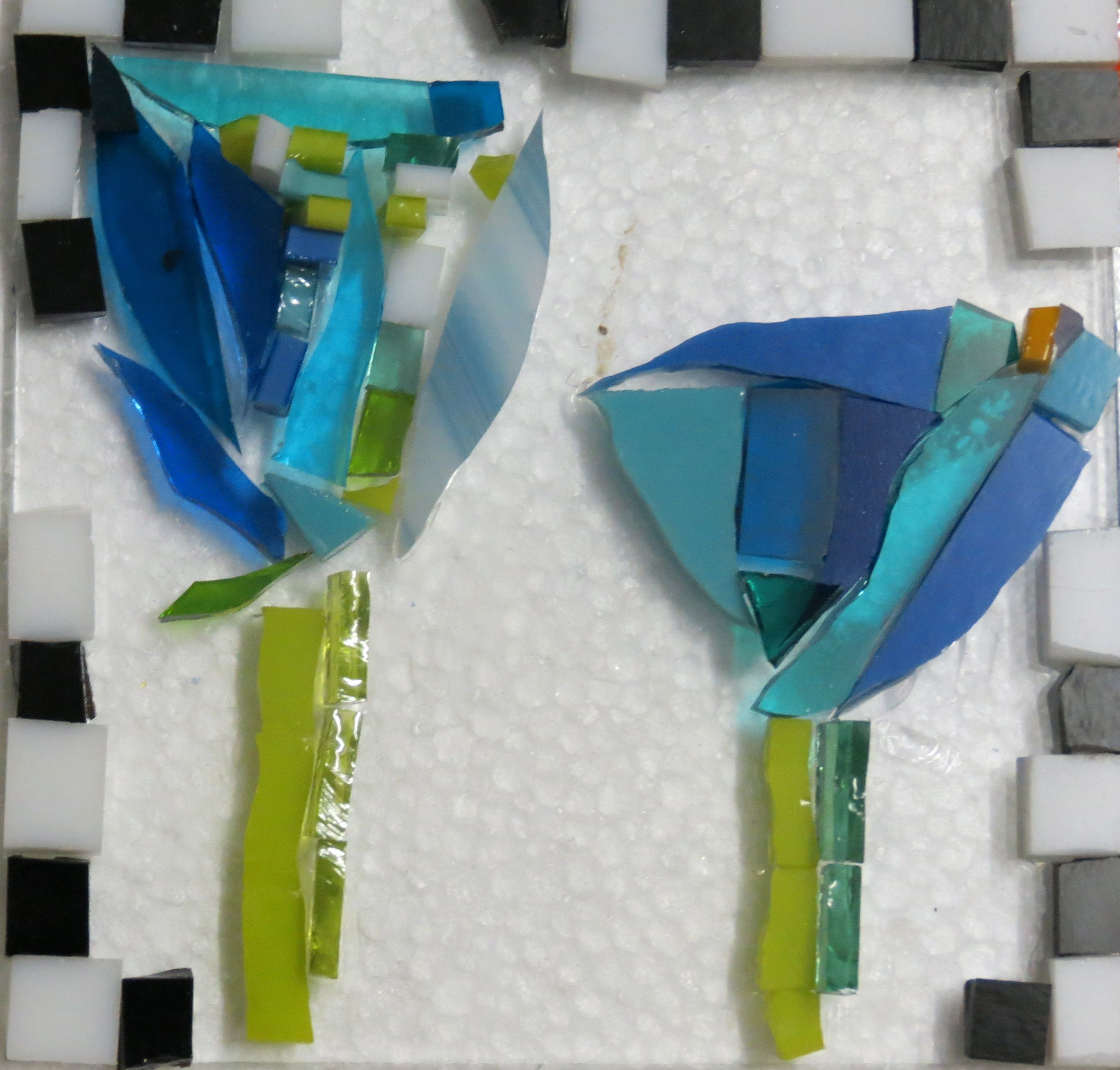 tulips for glass fusing by kat gottke
