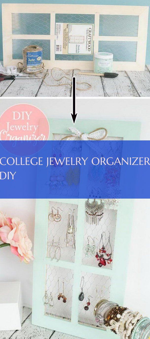 college jewelry organizer diy